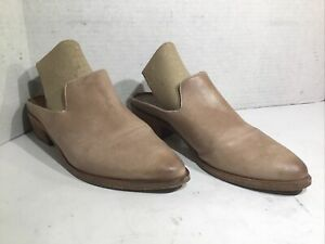 Frye Womens Size 6 Ray Sand Leather Casual Slip On Mules Shoes ZE-779