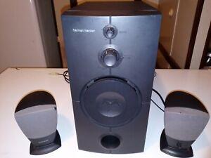 Harman Kardon HK395 3-Piece Speaker System w/ Subwoofer & Satellites - 7E840