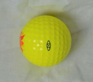 Vintage PING SOLID YELLOW GOLF BALL With Sun LOGO