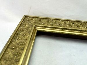 "ANTIQUE FIT 10"" x 14""  ORNATE GOLD GILT GESSO FINE ART VICTORIAN PICTURE FRAME"