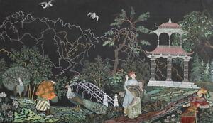 VINTAGE CHINESE GOUACHE  LANDSCAPE PAINTING SIGNED W. GARDENINE