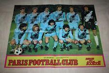 POSTER Miroir du football * PFC PARIS FC  fin 70