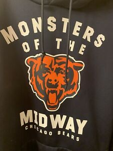 Chicago Bears Nike Hoodie Sweatshirt - Monsters Of The Midway XL Rare !!!