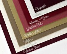 "Wow Berries n Cream Felt Collection Merino Wool Blend Felt Eight 12"" X18"" Sheets"