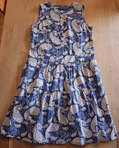 Marc O'Polo Damen Kleid Sommerkleid Gr. 38 / M blau-weiß sehr guter Zustand