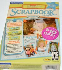 Broderbund Scrapbook Designer - Older version unopened - 3 CD set.