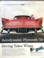 1956 Plymouth Automobile Vintage Advertisement Print Art Car Ad Poster LG74