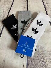Adidas Trefoil Repeat Crew Socks Size L  Shoe Size (6-12) Mens