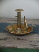 Victorian brass Chamberstick with snuffer circa 1880