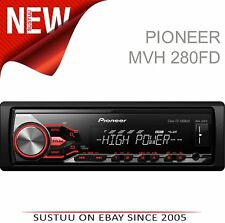 Pioneer MVH 280FD alta potencia auto estéreo │ rdstuner │ MP3 │ │ │ USB Aux iPod-iPhone-Android