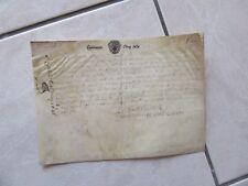 QUITTANCE CINQ SOLS 1686 SUR VELIN SIGNE ROUVROY DE SAINT SIMON