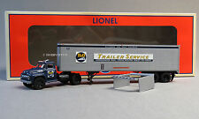 LIONEL B&O 40' TRAILER W TRACTOR TRUCK O GAUGE train semi trucking 6-82845 NEW
