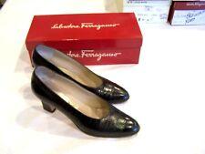 Salvatore Ferragamo vintage brown alligator-print shoes, sz. 8Aaa Nilla