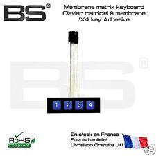 Clavier matriciel membrane matrix keyboard 4X1 clavier 4 touches autocollant