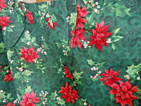 Christmas Curtain Valance Long Pleated 16 Ft. Long X 29 Inches Vintage Excellent