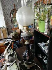 Superbe très grande lampe à pétrole d'époque Napoléon III
