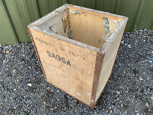 Wooden tea chest shipping crate 'Produce of Kenya' S1E010521A