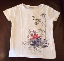 S. Oliver Girls tee 116 122 Red white blue black floral design 4 5 EEUC European