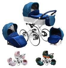 Baby Classic Pram Buggy Pushchair Car Seat Carrycot Retro Travel System 3in1