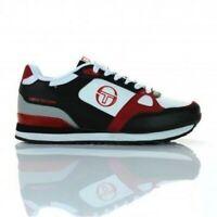 Sergio Tacchini Vinci Juniors Sizes 3-6 White/Red RRP £40 Brand New Classics