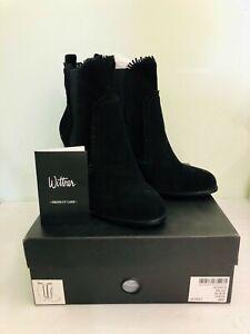 Brand New Wittner Regis Black Suede Boots AU9/EU40
