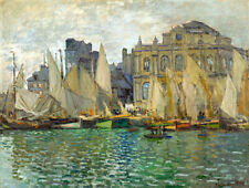 THE MUSEUM AT LE HAVRE painting Claude Monet reproduction ART CANVAS PRINT