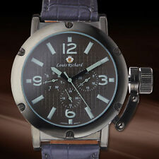 Louis Richard Kinnaird Multi-Function Mens Watch / MSRP $799.00 ( 4 COLORS )