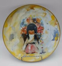 """De Grazie (1909- ) """"The Flower Girl Plate #9181 Limited Edition - 1978"""