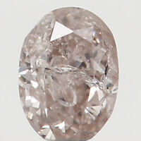 Natural Loose Diamond Oval Pink Color I2 Clarity 3.20X2.30X1.70 MM 0.11 Ct N7695
