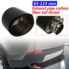 100% Carbon Fiber Exhaust Tips 63mm-114mm outlet Car Akrapovic Muffler Pipe