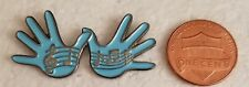 """THESE ARE JAZZ HANDS"" BLUE Lapel Pin"