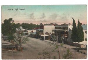 PC AVOCA HIGH STREET HOTEL AND SHOPS  VICTORIA AUSTRALIA c1912