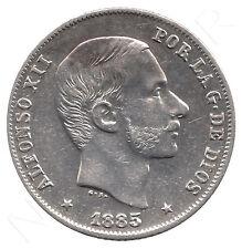 Islas Filipinas 20 Centavos de Peso 1885  Rey España Alfonso XII Manila S/C