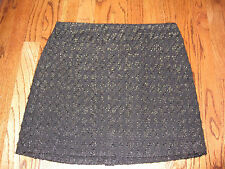 WILLI SMITH BLACK WOOL BLEND  ABOVE THE KNEE SKIRT  SIZE 8