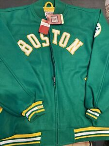NEW/TAGS MITCHELL NESS BOSTON CELTICS NBA Hardwood Classics  Wool Jacket 2XL/52