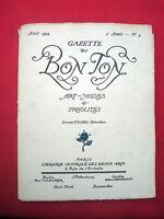MODE FASHION COUTURE PRET A PORTER Gazette BON TON 1914 AVRIL N° 4 BARBIER ..