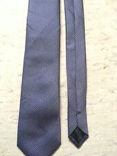 """Tailor & Cutter purple mix patterned skinny tie 2 1/2"""" wide 59"""" long polyester"""