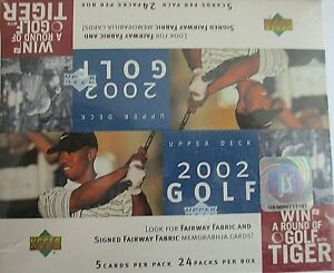 PGA 2002 UPPER DECK FACTORY SEALED HOBBY BOX GOLF CARDS MICKELSON ROOKIE?