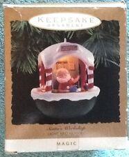Hallmark Keepsake Ornament Light and Motion Santa's Workshop 1993
