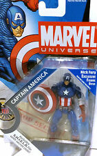 CAPTAIN AMERICA w/FURY OFFER • MARVEL UNIVERSE • C8-9 MISB • SERIES 001 HASBRO