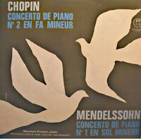 MANAHEM PRESSLER/SWAROWSKY/VIENNE concerto piano 1&2 CHOPIN/MENDELSSOHN LP EX++
