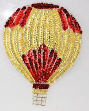 Yellow & Red Air Balloon Sequin Applique Shinny