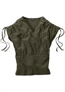 Damen Shirt khaki von ECOREPUBLIC Gr. 38