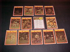 1972 OPEE-CHEE CFL PRO-ACTION SET INC. CHECKLIST