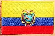 ECUADOR Country Flag Embroidered PATCH Badge