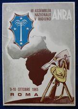 RADUNO ANRA - REDUCI D'AFRICA - ROMA 1965
