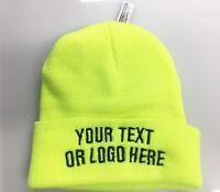 Personalised Embroidered Original Cuffed Beanie Hat Club Work Team wear custom