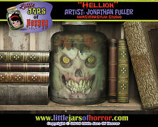 """Hellion"" Head in Jar - Halloween/Horror Prop/Decor-  Fetid Green Version"