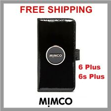MIMCO Enamour iPhone 6 6s PLUS Black patent leather Magnetic Flip case wallet DF