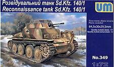 UM 349 Sd.Kfz. 140/1 WWII German reconnaissance tank 1/72